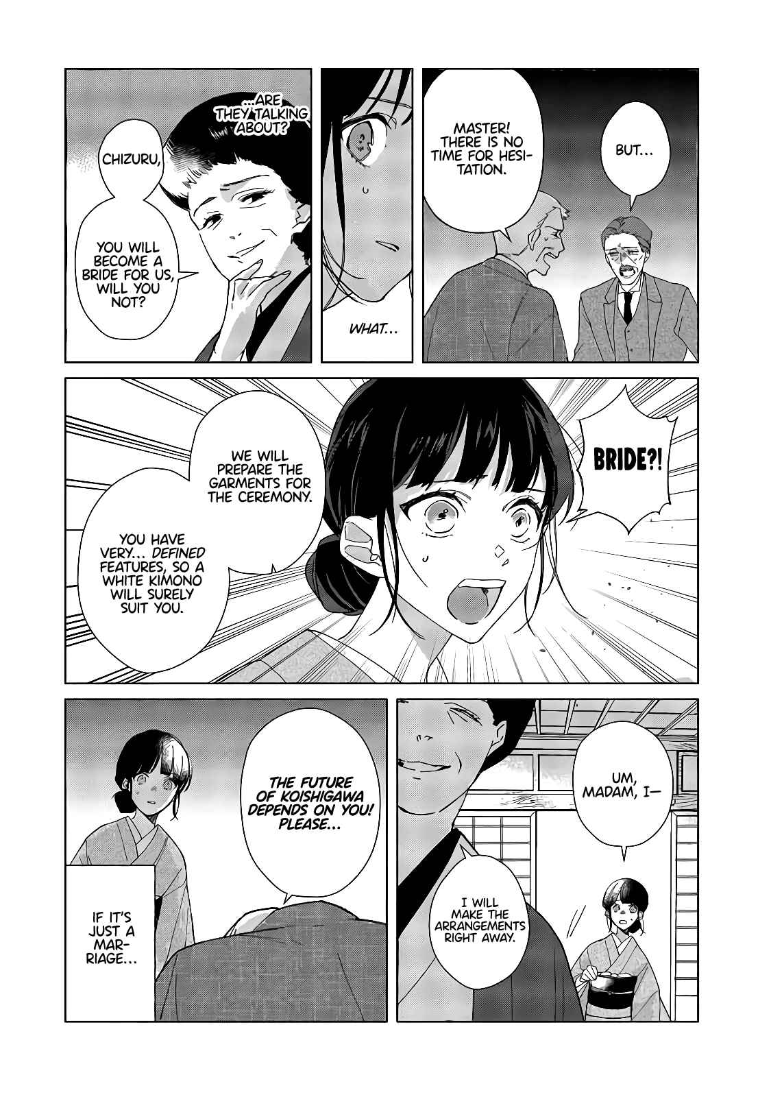 Shinigami no hatsukoi ~Botsuraku Kazoku no Reijou wa Ai wo Shiranai Shinigami ni Totsugu - chapter 1-eng-li